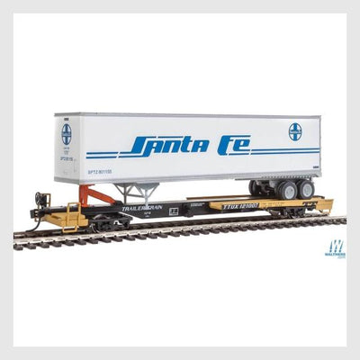 1538288451607 - Walthers Mainline 910-5018 50' Front Runner W/Trailer 45' Trailer Ttux #121007 Atsf - Rj's Trains