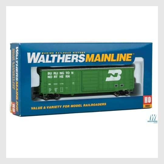 1361704484887 - Walthers Mainline Ho 910-2322 50' Waffle-Side Box Car With Superior Doors, Burlington Northern #332179 - Rj's Trains