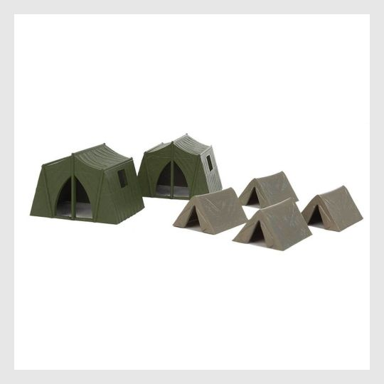 4114148655127 - Walthers Scenemaster Ho 949-4165 Camping Tents (4 Small And 2 Large Tents) - Rj's Trains