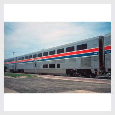 1354155950103 - Kato Ho 35-6052 Superliner Passenger Coach, Amtrak (Phase Iii) (6 Selectable Car Numbers) - Rj's Trains