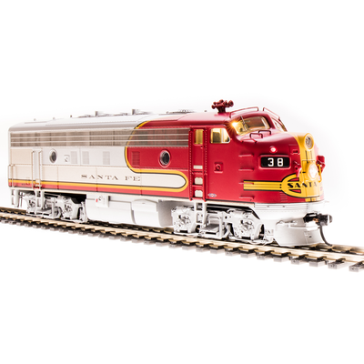 Broadway Limited Imports, 4850, HO Scale, F7 A Diesel, ATSF Warbonnet, #38C, (Equipped with Paragon3 Sound/DC/DCC)