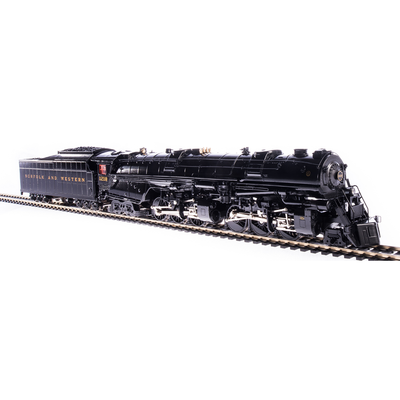 Broadway Limited, HO Scale, 5989, Class A, 2-6-6-4 Steam Locomotive, Norfolk and Western (Glossy Museum Finish), #1218