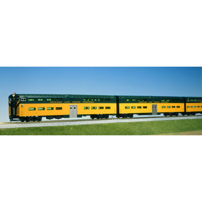 Kato- HO C&NW Bi-Level Passenger Car set of 3 (Rental)