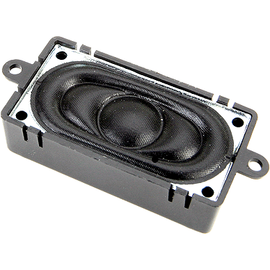 ESU 50334 Oval Speaker with Sound Chamber (20mm x 40mm x 12mm), 4 Ohms