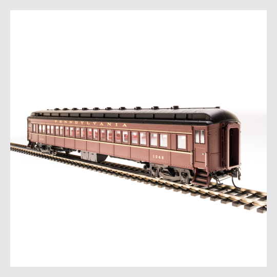 3965178904599 - Broadway Limited 4966 Prr P70 Without Ac, Tuscan Red W/ Gold Lettering & Stripes, 4-Car Set - Rj's Trains