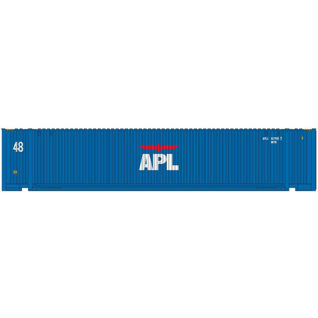 Intermountain 30554-07, HO 48' JINDO Container, APL Small Logo - APLU, 480101[0]/480217[1]