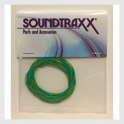1414944718871 - Soundtraxx 30Awg Wire 810147 - Green/Yellow Stripe - Rj's Trains