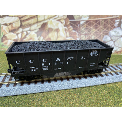 F&N Hobbies, 81100, HO Scale, Accurail 50 Ton 2-Bay Hopper - Coal Load (2-Pack)