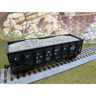 F&N Hobbies, 81101, HO Scale, Accurail 50 Ton 2-Bay Hopper - Gravel Load (2-Pack)