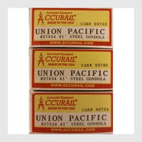 Accurail 37654 41' Steel Gondola Union Pacific 3 Pack (HO Scale Kit)