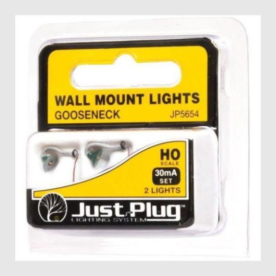 339332988951 - Woodland Scenics Jp5654 - Gooseneck Wall Mount Lights (Pack Of 2) Ho Scale - Rj's Trains