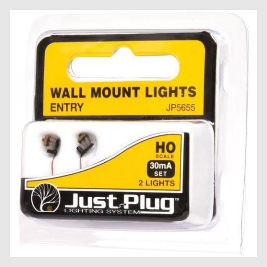 339445219351 - Woodland Scenics Jp5655 - Entry Wall Mount Lights (Pack Of 2) Ho Scale - Rj's Trains