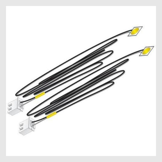 Woodland Scenics JP5742 Just Plug LED Stick-On Lights Yellow (2pcs)