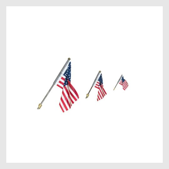3965095542807 - Woodland Scenics Jp5953, Us Flag And Wall Mount - Small - Rj's Trains