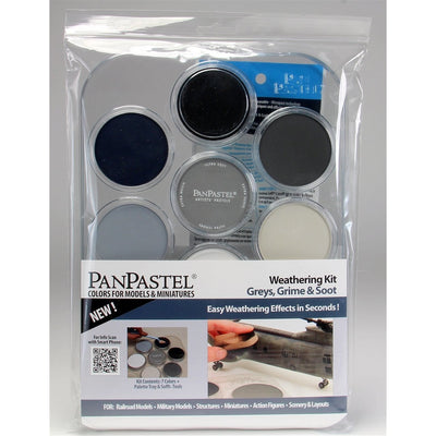 PanPastel 30702 7-Colors Weathering Kit, Greys, Grime, and Soot Mix