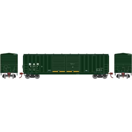 Roundhouse, HO Scale, RND1058, 50' FMC 5283 Double Door Box Car, Bangor and Aroostook, #9589