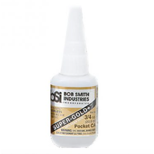 Bob Smith Industries, BSI-139, SUPER-GOLD+, Medium Thick, Pocket CA Glue, 3/4 oz
