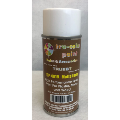 Tru-Color Paint, TCP-4019, Spray Paint, Matted Earth, 4.5 oz