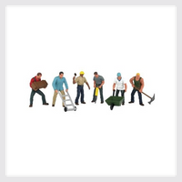 339617873943 - Bachmann Scene Scapes - Ho Scale - Construction Workers - Rj's Trains