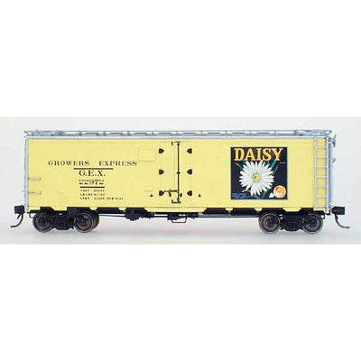 YesterYear Models: 51013, HO Scale, R-40-23 Refrigerator Car, Growers Express, Daisy-Yellow #22972