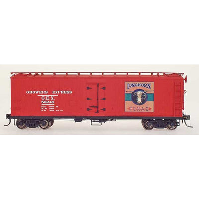 YesterYear Models: 51014-03, HO Scale, R-40-23 Refrigerator Car, Growers Express, Longhorn-Red, #56248