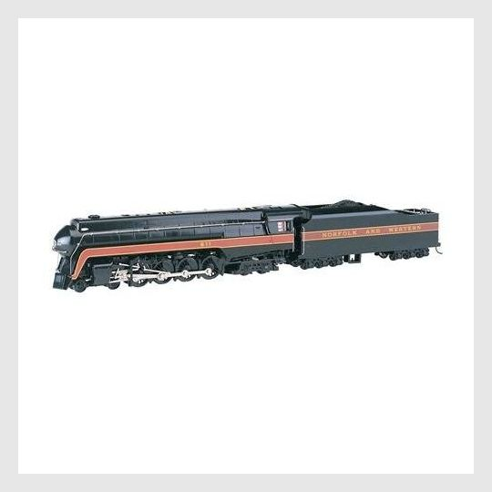 Bachmann 53201 J Class 4-8-4 w/Sound & DCC Norfolk & Western #611 (Railfan Version, black, maroon)
