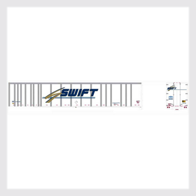 4167264436247 - Bowser Ho 42096 53' Platewall Roadrailer, Swift #1487 - Rj's Trains