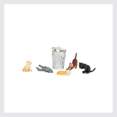 Bachmann HO 33107 Cats with Trash Can (6)