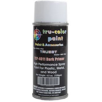 Tru-Color Paint, TCP-4011, Spray Paint, Dark Primer, 4.5 oz