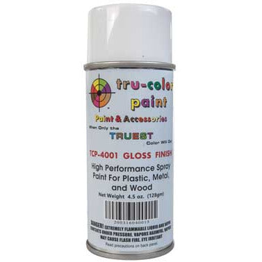 Tru-Color Paint, TCP-4001, Spray Paint, Gloss Finish, 4.5 oz
