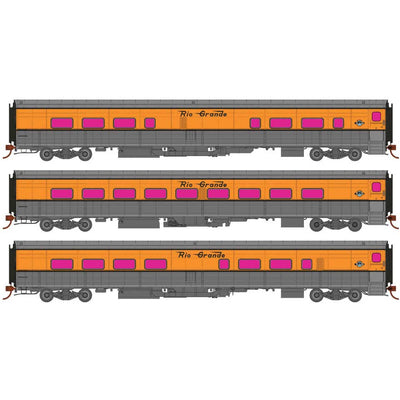 Rapido, 131202, HO Scale, Rio Grande Ski Train #2, Glenwood Springs, Winter Park and Mt Evans, (Aspen Gold, silver)