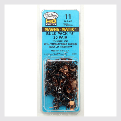 Kadee HO 11 Metal Couplers Bulk Pack No. 5 (20 pair)