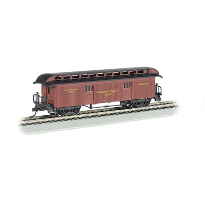 Bachmann HO Scale 15302, 1860-1880 Era Baggage Car, PRR