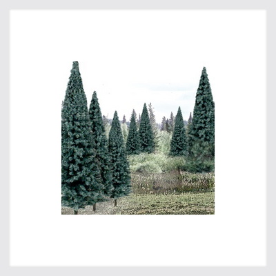 "Woodland Scenics TR1588 Value Trees, Blue Spruce 4"" to 6"" (13)"