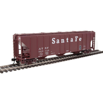 Walthers Mainline, 910-7254, HO Scale, 54' Pullman-Standard 4427 CD Covered Hopper, Santa Fe, #302134