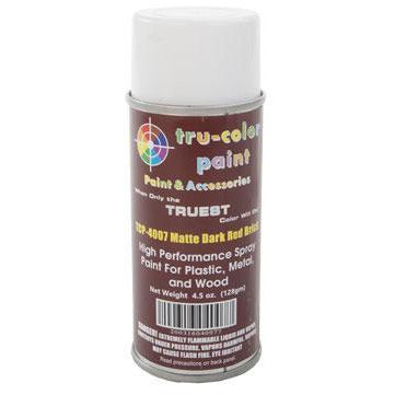 Tru-Color Paint, TCP-4007, Spray Paint, Matt Dark Red Brick, 4.5 oz