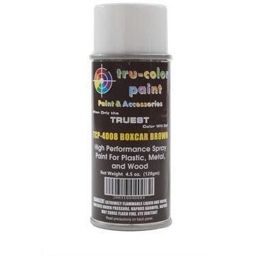 Tru-Color Paint, TCP-4008, Spray Paint, Boxcar Brown, 4.5 oz