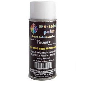 Tru-Color Paint, TCP-4005, Spray Paint, Matte Rail Road Tie Brown, 4.5 oz