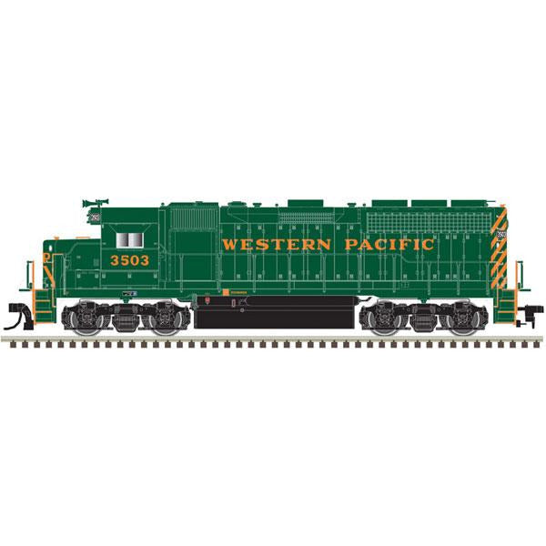 Atlas, 10003223, HO Scale, GP40, Western Pacific, WP Nose Lettering,  #3512, DCC Ready