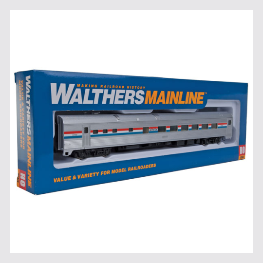 1501384441879 - Walthers Mainline Ho 910-30151 85' Budd Dome Coach, Amtrak (Phase 3) - Rj's Trains
