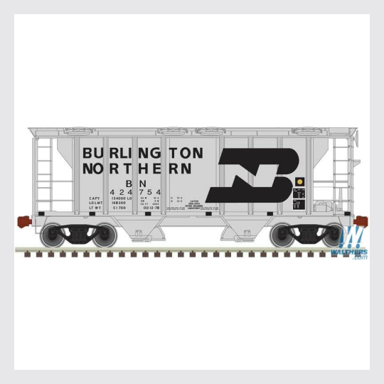 4321972813882 - Atlas Trainman Ho 20005055 Ps-2 Covered Hopper, Burlington Northern #424767 - Rj's Trains