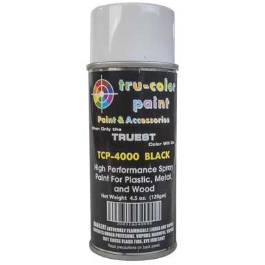 Tru-Color Paint, TCP-4000, Spray Paint, Black, 4.5 oz