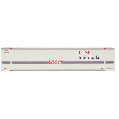 Intermountain 30408-03, HO 48' Smooth Side Container, Set of 2, Canadian National Laser 280184/280196