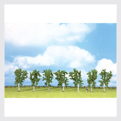 "1494042935319 - Walthers Scenemaster 949-1164 Birch Trees With Flat Base, 4"" (7) - Rj's Trains"