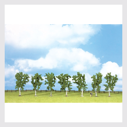 Walthers SceneMaster 949-1164 Birch Trees with Flat Base, 4