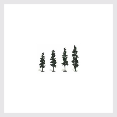 "1509094752279 - Woodland Scenics Tr1561 Ready Made Conifer Green, 4"" To 6"" (4) - Rj's Trains"