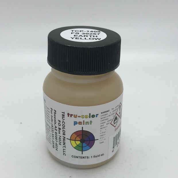 Tru-Color Paint, TCP-1408, Air Brush Ready, FS 30257 Earth Yellow, 1 oz
