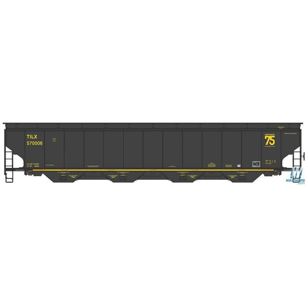 Walthers Proto, HO Scale, 920-105833, 67' Trinity 6351 4-Bay Covered Hopper, Trinity Industries, (75th Anniversary Logo), #570049