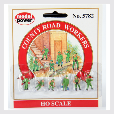 Model Power HO 5782 County Road Workers (6)