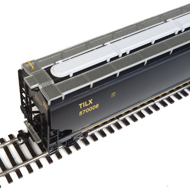 Walthers Proto, HO Scale, 920-105831, 67' Trinity 6351 4-Bay Covered Hopper, Trinity Industries, (75th Anniversary Logo), #570006